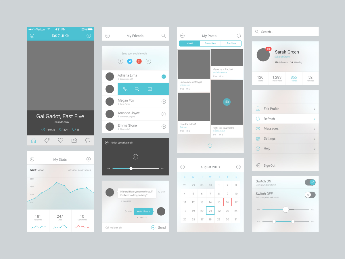 Mobile User Interface Design – Sendinthefox | Startup specialist ...