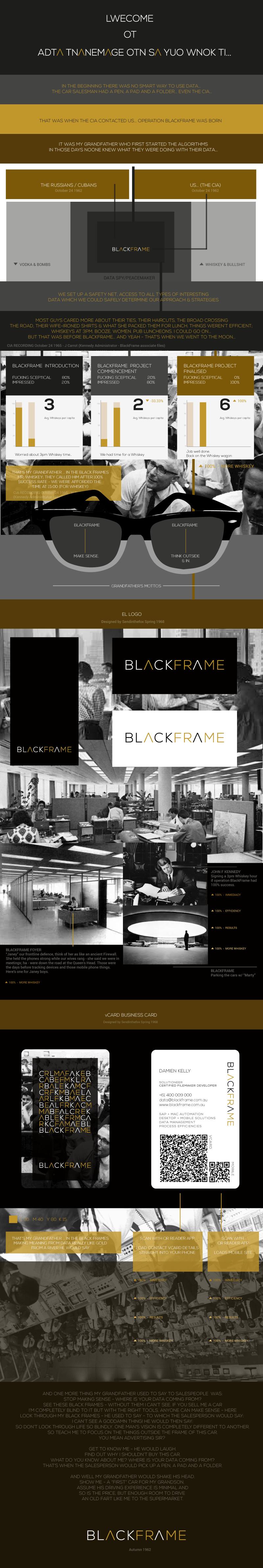 BlackFrame Logo & vCard Business Card – Sendinthefox | Mobile ...