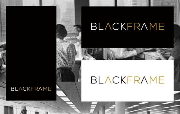 BlackFrame Logo & vCard Business Card